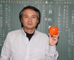 リンゴではありません、柿です!
